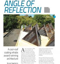 Spray Foam Magazine article of Wedge Roofing installing new roof at Sonoma State University.